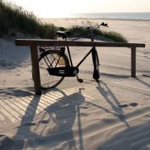 Dort, wo der Ginsterpad den Strand erreicht
