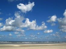 Endlose Weite am Strand.