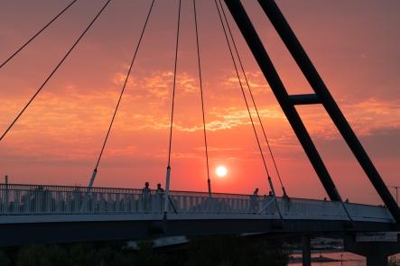 Sonnenuntergang Medienhafen