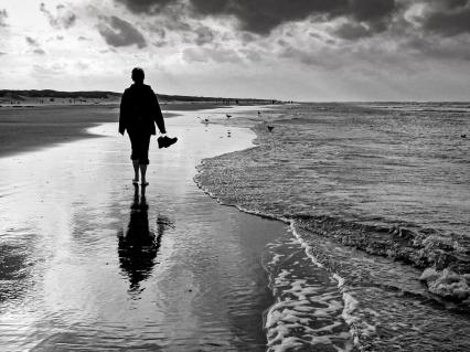 Lange, einsame Spaziergänge am Strand